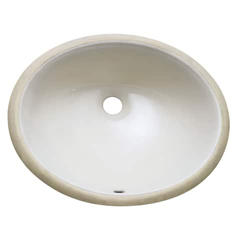 "Avanity Undermount Vitreous 18-inch China Sink in Linen Color - 18.1""W x 7.9""D"