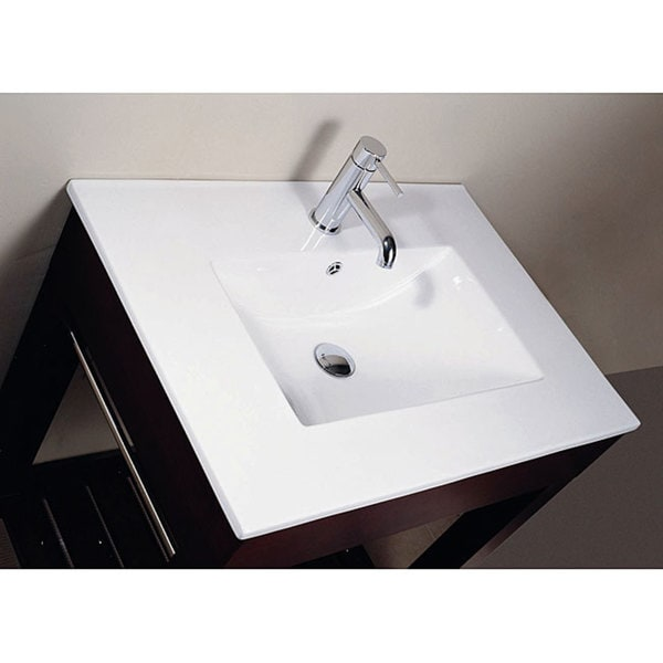 Avanity Vitreous China 25 Inch Square Bowl Bathroom Sink