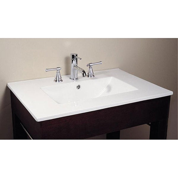 Bathroom Sinks Overstock avanity vitreous china top rectangular bathroom sink - free