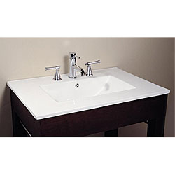 Bathroom Vanity With Bowl On Top : Avanity Vitreous China Top Rectangular Bathroom Sink