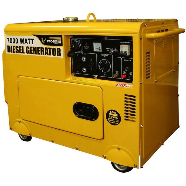 Buffalo Tools Pro Series 7000-watt Silent Diesel Portable ...