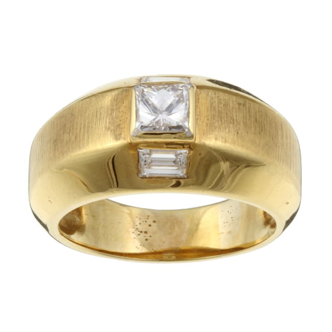 18k Yellow Gold 7/8ct TDW Diamond Estate Band (I, VS2) (Size 9)
