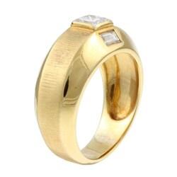 18k Yellow Gold 7/8ct TDW Diamond Estate Band (I, VS2) (Size 9) - Thumbnail 1