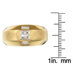 18k Yellow Gold 7/8ct TDW Diamond Estate Band (I, VS2) (Size 9) - Thumbnail 2