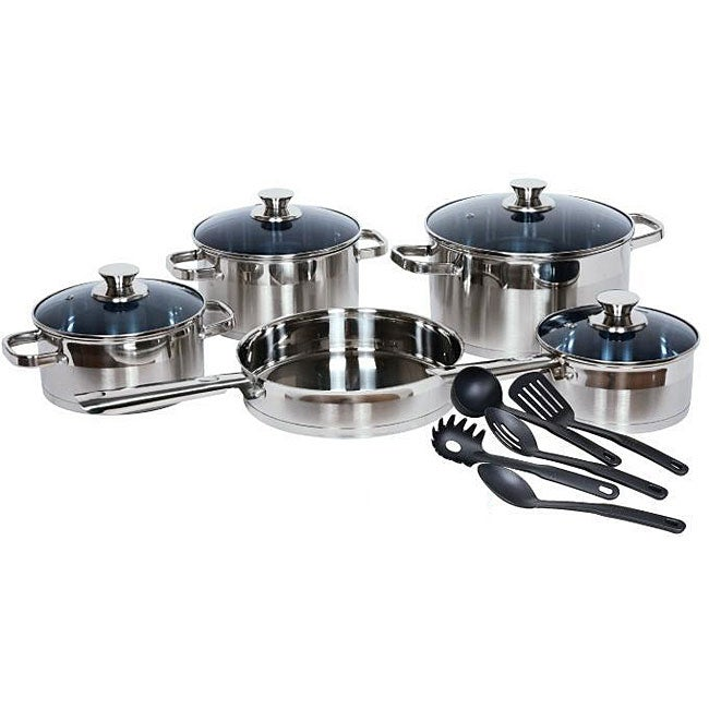 Gourmet Chef 14-piece Stainless Steel Cookware Set - Thumbnail 0