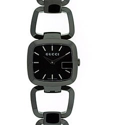 Gucci Women's YA125403 'G-Gucci' Medium Black IP Stainless Steel Watch