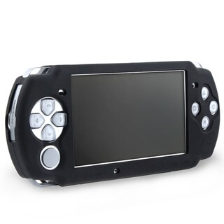 Insten Black Silicone Skin Case for Sony PSP 3000