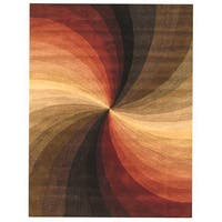 Hand-tufted Wool Contemporary Abstract Swirl Rug - 4' x 6'