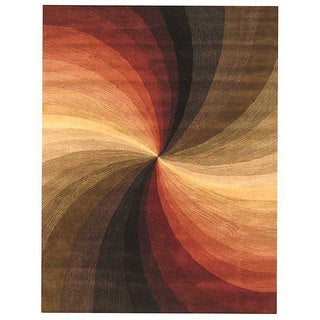 Hand-tufted Wool Contemporary Abstract Swirl Rug (4' x 6')