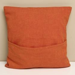 Tangerine Cotton 'Amelia Birds' Decorative Pillow Cover (India) - Thumbnail 1
