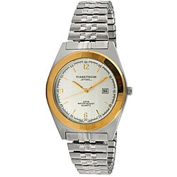 Timetech Men's Quartz Miyota Two-Tone Stainless Steel Expansion Watch