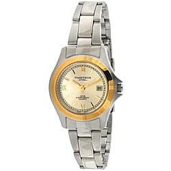 Timetech Women's Two-tone Stainless Steel Bracelet Watch|https://ak1.ostkcdn.com/images/products/4427195/Timetech-Womens-Two-tone-Stainless-Steel-Bracelet-Watch-P12384458.jpg?impolicy=medium