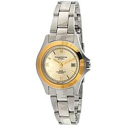 Timetech Women's Two-tone Stainless Steel Bracelet Watch