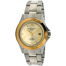 Timetech Men's Two-tone Stainless Steel Bracelet Watch|https://ak1.ostkcdn.com/images/products/4427196/Timetech-Mens-Two-tone-Stainless-Steel-Bracelet-Watch-P12384459.jpg?impolicy=medium
