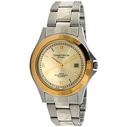 Timetech Men's Two-tone Stainless Steel Bracelet Watch
