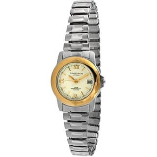 Timetech Women's Two-tone Stainless Steel Expansion Watch|https://ak1.ostkcdn.com/images/products/4427197/P12384460.jpg?impolicy=medium