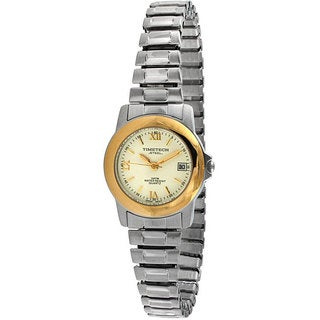 Timetech Women's Two-tone Stainless Steel Expansion Watch