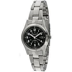 Timetech Women's Black Dial Round Stainless Steel Watch|https://ak1.ostkcdn.com/images/products/4427200/Timetech-Womens-Black-Dial-Round-Stainless-Steel-Watch-P12384462.jpg?impolicy=medium