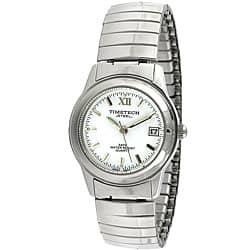 Timetech Women's White Dial Stainless Steel Expansion Watch|https://ak1.ostkcdn.com/images/products/4427202/Timetech-Womens-White-Dial-Stainless-Steel-Expansion-Watch-P12384464.jpg?impolicy=medium