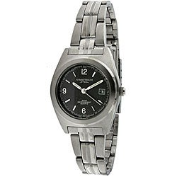 Timetech Women's Grey Dial Round Stainless Steel Watch