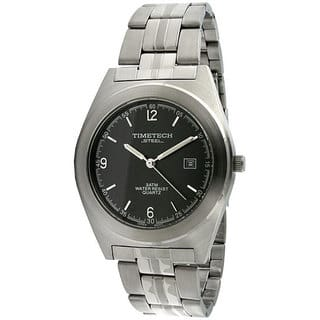 Timetech Men's Grey Dial Round Stainless Steel Watch|https://ak1.ostkcdn.com/images/products/4427205/P12384467.jpg?impolicy=medium