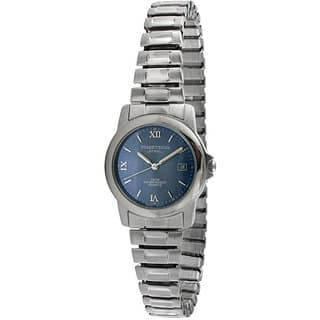 Timetech Women's Blue Dial Stainless Steel Expansion Watch|https://ak1.ostkcdn.com/images/products/4427206/P12384468.jpg?impolicy=medium