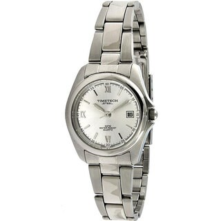 Timetech Women's Silver Dial Round Stainless Steel Watch|https://ak1.ostkcdn.com/images/products/4427208/P12384470.jpg?_ostk_perf_=percv&impolicy=medium