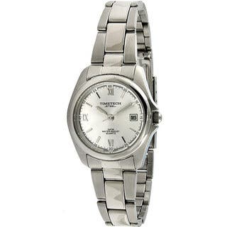 Timetech Women's Silver Dial Round Stainless Steel Watch|https://ak1.ostkcdn.com/images/products/4427208/P12384470.jpg?impolicy=medium