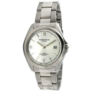Timetech Men's Silver Dial Round Stainless Steel Watch|https://ak1.ostkcdn.com/images/products/4427210/P12384471.jpg?impolicy=medium