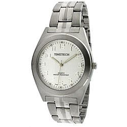 Timetech Men's Silver Dial Stainless Steel Bracelet Watch|https://ak1.ostkcdn.com/images/products/4427213/Timetech-Mens-Silver-Dial-Stainless-Steel-Bracelet-Watch-P12384474.jpg?impolicy=medium