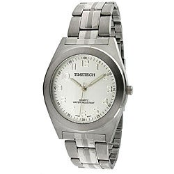 Timetech Men's Silver Dial Stainless Steel Bracelet Watch