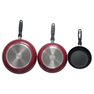 Gourmet Chef Professional Heavy Duty Non-Stick Fry Pans (Option: Red)