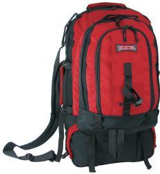 J World 'Stonecrest' Red 65L Climbing Pack with Detachable Backpack - Thumbnail 2