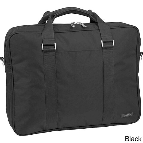 J World 15-inch Double Compartment Laptop Briefcase