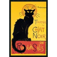 Theophile Alexandre Steinlen 'Tournee du Chat Noir' Framed Art - YELLOW