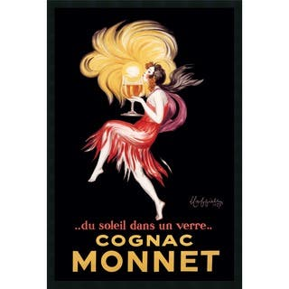 Framed Art Print Cognac Monnet (ca. 1927) by Leonetto Cappiello 26 x 38-inch