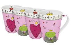 Konitz 'Prince and Princess' Assorted 13-oz Mugs (Set of 4) - Thumbnail 1