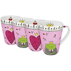 Konitz 'Prince and Princess' Assorted 13-oz Mugs (Set of 4)