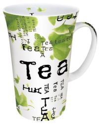 Konitz Tea Collage White/ Green 10-oz Mugs (Set of 4) - Thumbnail 1