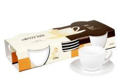 Konitz Coffee Bar 7-oz Coffee Cups and Saucers (Set of 2) - Thumbnail 2
