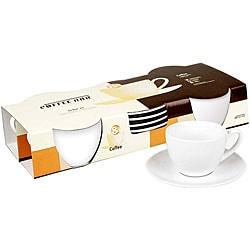 Konitz Coffee Bar 7-oz Coffee Cups and Saucers (Set of 2)