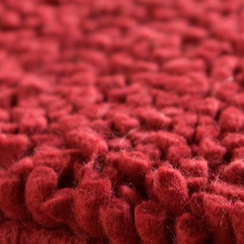 Hand-woven Red Wool Olympus Area Rug - 4' x 10'