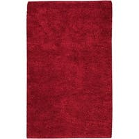 Hand-woven Olympus Red NZ Wool Area Rug - 8' x 10'6