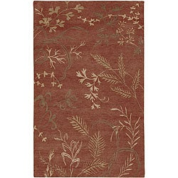 Hand-knotted Red Wool Legacy Area Rug (9' x 13') - 9' x 13' - Thumbnail 0