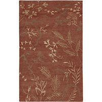 Hand-knotted Red Wool Legacy Area Rug - 9' x 13'