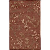 Hand-knotted Red Wool Legacy Area Rug (9' x 13') - 9' x 13'