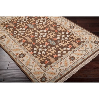 Hand-knotted Legacy Brown New Zealand Wool Rug (9' x 12')