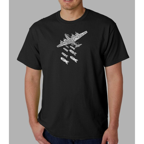 Los Angeles Pop Art Men's 'Drop Beats Not Bombs' T-shirt. Opens flyout.