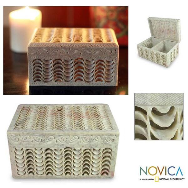 Soapstone 'Nautilus' Jewelry Box (India)