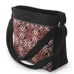 Cotton 'Hypnotic Poppy' Shoulder Bag (Thailand)